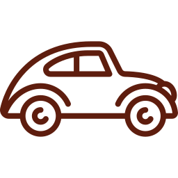 An icon depicting a classic car