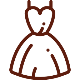 An icon depicting some a prom dress