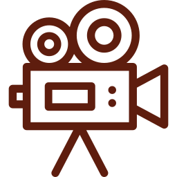 An icon depicting a video camera